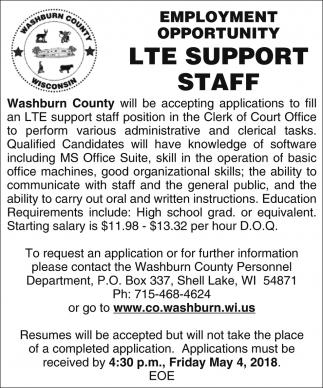 LTE Support Staff