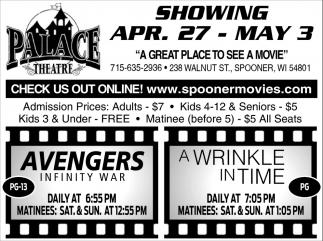 Showing April 27 - May 3