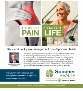 Mark Seidelmann, MD. Back and neck pain management