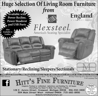 Living Room Furniture From Flexsteel Hitt S Fine Furniture Ashland Wi