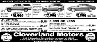 Dodge, Honda, Oldsmobile