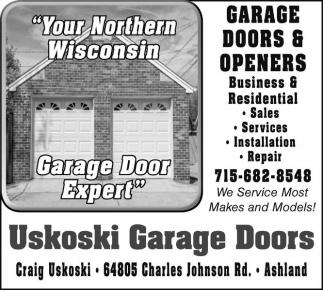 Your Northern Wisconsin Garage Door Expert