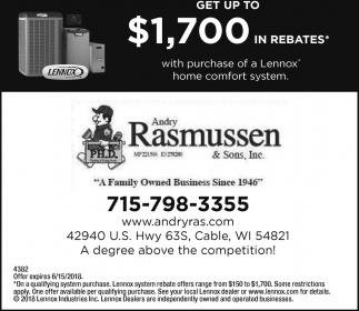 Get up to $1,700 in rebates*