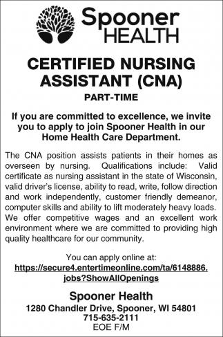 Certified Nursing Assistant Cna Spooner Health Spooner Wi