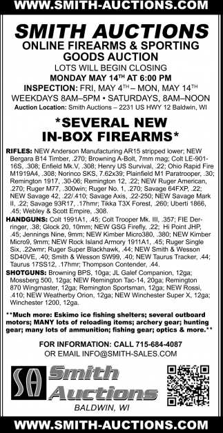 Online Firearms & Sporting Goods Auctions