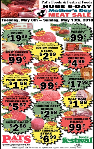 Huge 6 Day Mother's Day Meat Sale