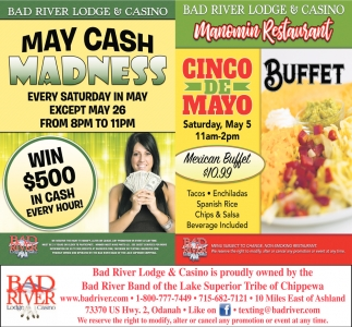 May Cash Madness / Cinco de Mayo Buffet
