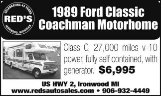 1989 Ford Classic Coachman Motorhome