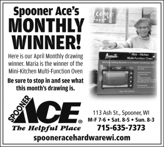 Spooner Ace's Monthly Winner!