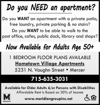Do you NEED an apartment?