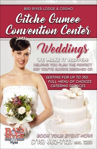 Gitche Gumee Convention Center: Weddings