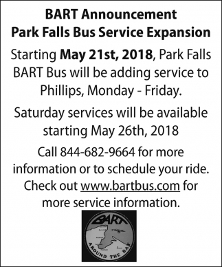 Park Falls Bus Service Expansion