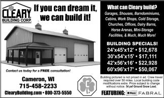 Building Specials