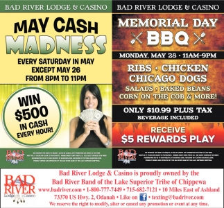 May Cash Madness / Memorial Day BBQ