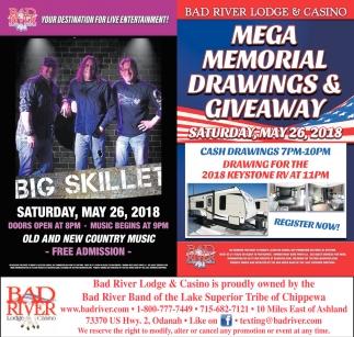 Big Skillet / Mega Memorial Drawings & Giveaway