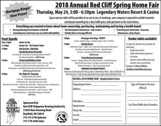 2018 Annual Red Cliff Spring Home Fair