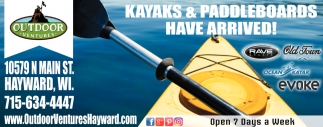 Kayaks & Paddleboards Have Arrived!