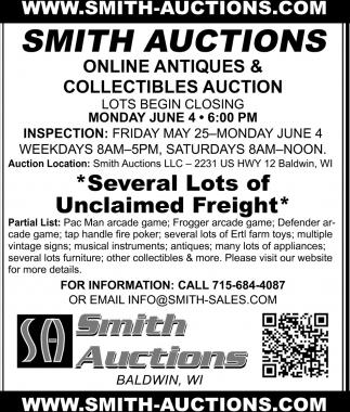 Online Antiques & Collectibles Auction
