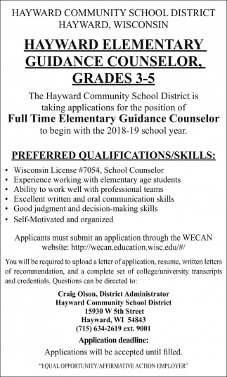 Guidance Counselor Grade 3-5