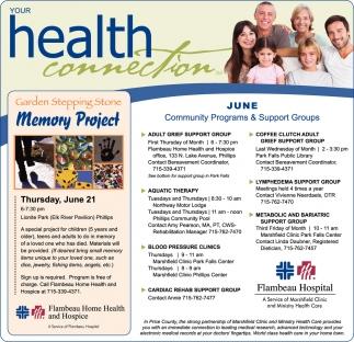 June Community Programs & Support Groups