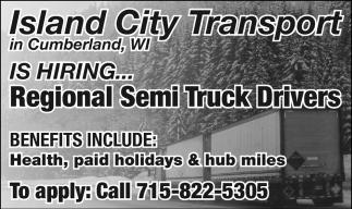 Regional Semi Truck Drivers