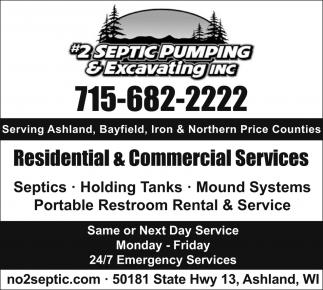 Septics, Holding Tanks, Mound Systems