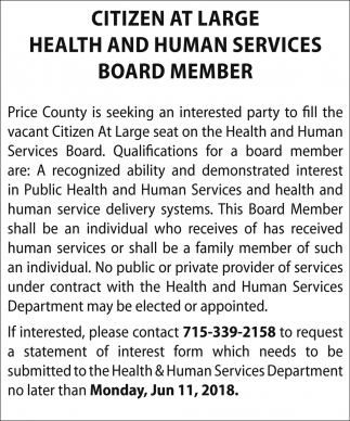 Health and Human Services Board Members