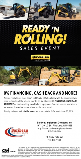 Sales Event New Holland