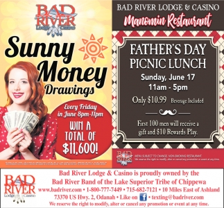 Sunny Money Drawings / Manomin Restaurant Father's Day Picnic Lunch