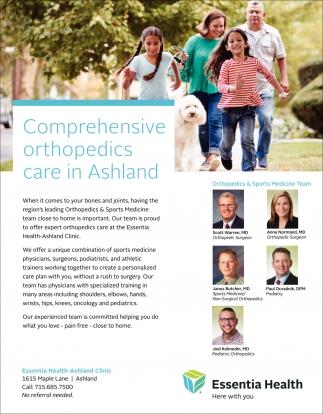 Orthopedics & Sports Medicine Team