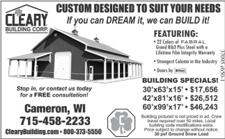 CUSTOM DESIGNED TO SUIT YOUR NEEDS