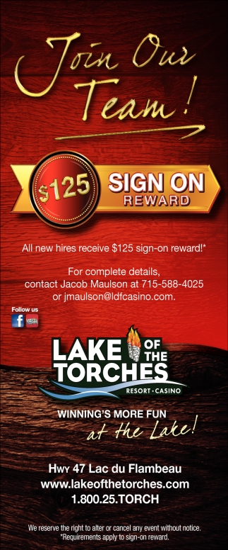 $125 Sign on reward
