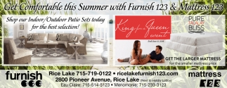 Get Comfortable this Summer with Furnish 123 & Mattress 123