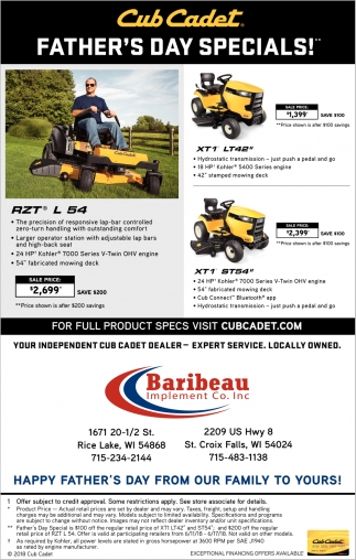 Cub Cadet Father's Day Special