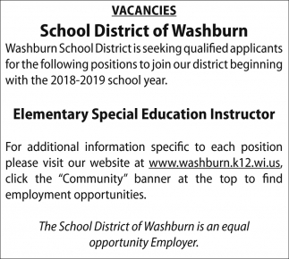 Elementary Special Education Instructor