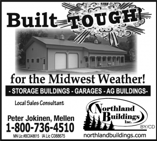 Storage Buildings, Garages, Ag Buildings