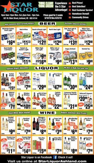 Beer, Liquor, Wine