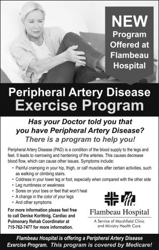 Peripheral Artery Disease Exercise Program