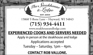 Cooks and Servers
