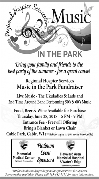 Music in the Park Fundraiser