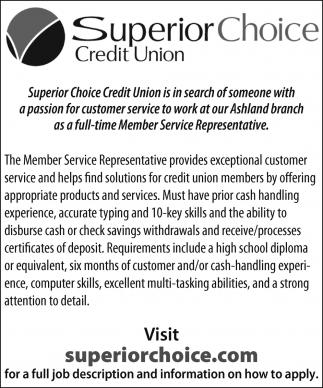 Member Service Representative