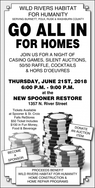 Go All In For Homes Wild Rivers Habitat For Humanity Saint Croix