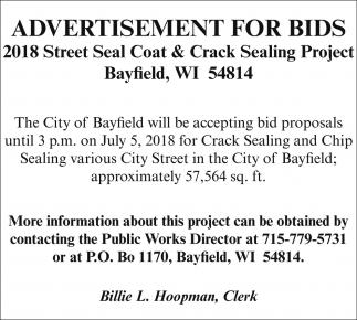 Advertisement for bids