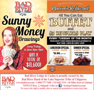 Sunny Money Drawings / Manomin All You Can Eat Buffet