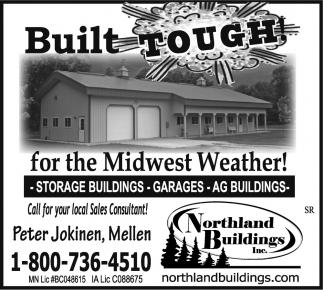 Storage Buildings, Garages, Ag Buildings