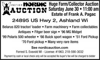 Huge Farm/Collector Auction