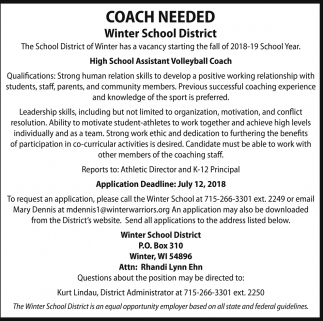Coach Needed