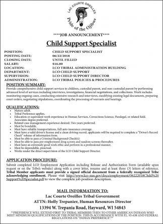 Child Support Specialist
