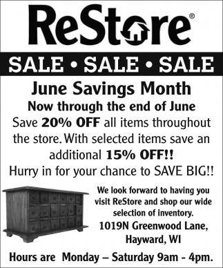 June Savings Month