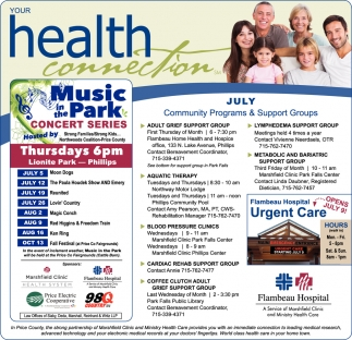 July Community Programs & Support Groups